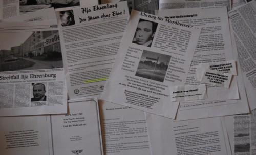 Rechte Propaganda gegen die Ilja-Ehrenburg-Straße